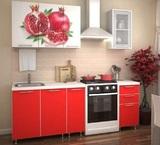 Кухня Гранат красный 1,5 м