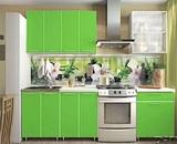 Кухня Радуга Зелёная мамба 1,8 м