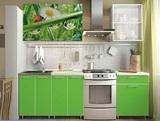 Кухня Лето Зелёная мамба 1.8 м (Риикм)