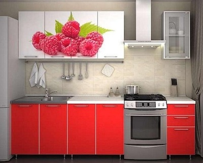 Кухня Малина красный 2 м (Риикм)