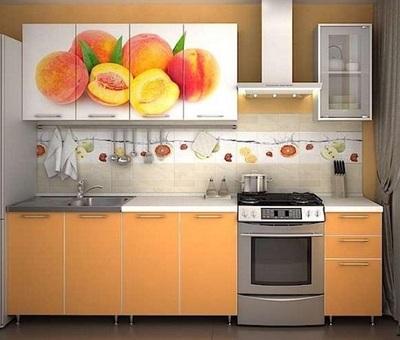 Кухня Персик оранж 2 м (Риикм)
