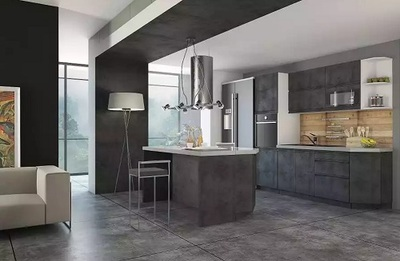 Кухня Бронкс модульная, цвет Велюр Бетон