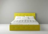 Мягкая кровать Levin с подъемным механизмом и системой хранения