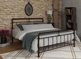 Двуспальная кровать из металла Авила коричневая