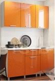 Кухня Блестки Оранж 1,5 м