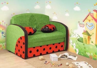 Детский диван Мася 9 (Божья коровка)