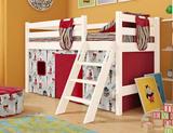 Кровать-чердак Соня 12 с наклонной лестницей