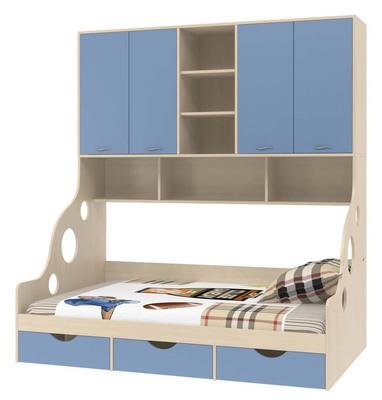 Детская кровать Дельта 21.01 с антресолью