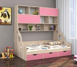 Детская кровать Дельта 21.02 с антресолью
