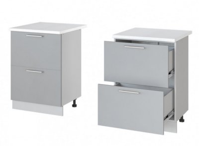 Леко нижний стол с 2 ящиками Н-62 (60 см)