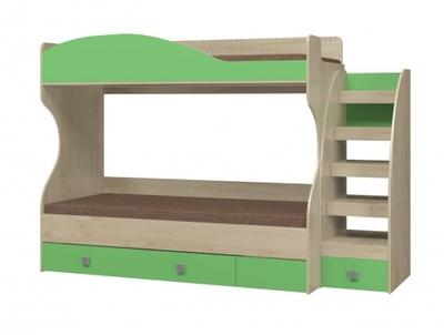 Кровать двухъярусная с настилом Лайф