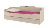 Кровать Соната односпальная 80 см (с настилом)