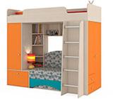 Кровать-чердак Тетрис с диваном