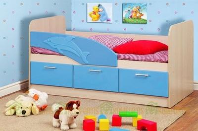 Кровать Дельфин с ящиками