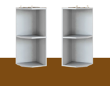 Верхний торцевой шкафчик АТ-30 (30 см) кухни МФ Leko