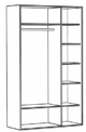 Шкаф для одежды 3-х дверный Хэппи