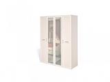 Шкаф Соната для платья и белья 4-х дверный (каркас)