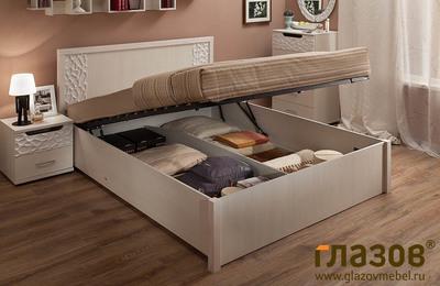 Кровать Виспа / Wyspaa с подъемным механизмом